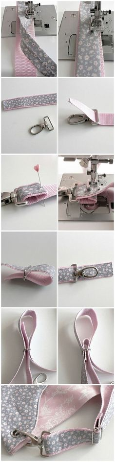 10 Stuning Diy Dog Collar Ideas You Will Love Sling bag sewing tips Sewing Hacks, Sewing Tutorials, Sewing Crafts, Sewing Projects, Sewing Patterns, Sewing Tips, Fabric Crafts, Pink Patterns, Diy Bags