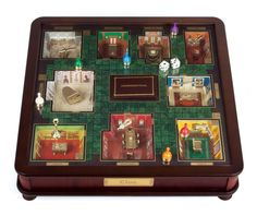 Clue Museum Luxury Wood Collectors Edition Classic Board Game with 3 D Rooms…