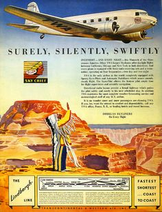 TWA ad from 1935. The Lindbergh Line.