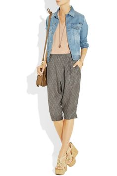 DAY Birger et Mikkelsen's black and gray batik-print shorts