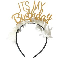 It's My Birthday Headband in Gold available at Shop Sweet Lulu