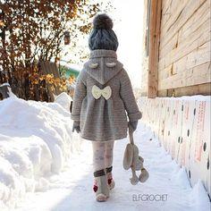 Der Neue Likes, 74 comments - Elvir . Baby Knitting Patterns, Crochet Baby Cardigan Free Pattern, Crochet Baby Jacket, Crochet Baby Sweaters, Crochet Coat, Knitting For Kids, Crochet Clothes, Crochet Girls, Cute Crochet