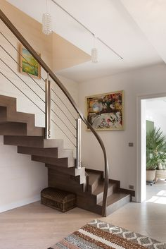 Schody dywanowe na beton P207-04 Under Stairs, Railings, Staircases, House Plans, Minimalist, Inspiration, Design, Home Decor, Ladder
