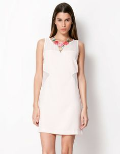 Bershka combined fabric dress. party/wedding low cost dress. 29.99€