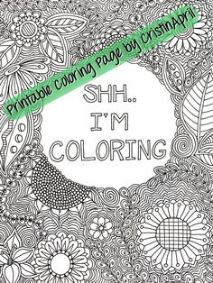 shh im coloring printable coloring page instant by cristinapril