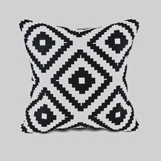Black White Aztec Throw Cushion Cover Pillow Case