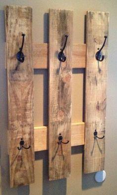 25 idee creative per il vostro appendiabiti in legno riciclato - Falegnameria'900