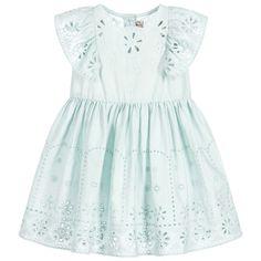87d9d019a2 Baby Girls Green Broderie Anglaise Dress. Stella Mccartney ...