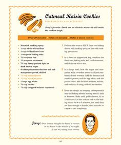 Oatmeal Raisin Cookies (with banana puree & zucchini puree)   Deceptively Delicious by Jessica Seinfeld