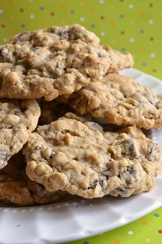 Oatmeal Chocolate Chip Cookies! I made these without the nutmeg just because I didn't have any and they were still DELICIOUS