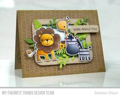 Wild About You Stamp Set and Die-namics, Make Your Mark Background, Essential Speech Bubbles Die-namics, Stitched Rounded Rectangle Frames Die-namics, Fab Foliage Die-namics, Wild Greenery Die-namics - Debbie Olson  #mftstamps