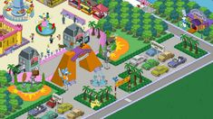 Itchy and Scratchy Land entrance Springfield Tapped Out, The Simpsons Game, Flower Doodles, Clash Of Clans, Games, Anime, Design, Cartoons, Blog Tips