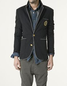 Crested trimmed blazer
