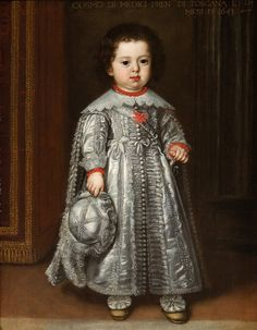 Portrait of Cosimo de' Medici III (1642-1723) ~ aged one year, by Justus Sustermans (1597 - 1681, Belgian)