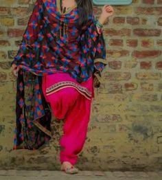 Luvly suit Patiala Dress, Punjabi Dress, Patiala Salwar, Anarkali, Indian Suits, Indian Dresses, Indian Wear, Kurta Pajama Punjabi, Punjabi Salwar Suits