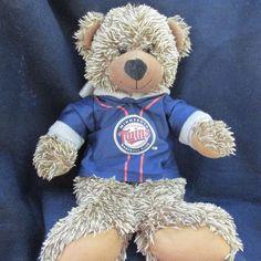 "Minnesota Twins Teddy Bear MLB Brown Plush in Hoodie Soft 14"" Good Stuff | Sports Mem, Cards & Fan Shop, Fan Apparel & Souvenirs, Baseball-MLB | eBay!"