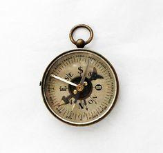 Miniature Compass Charm Vintage Fob