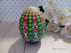 Eggs Unique colorful wooden eggs easter eggs Hand Painted egg Wooden egg decorated russian ornaments Collectible