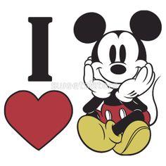 I heart love Mickey Mouse