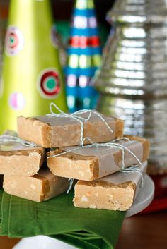 Easy Peanut Butter Fudge -- about 20 minutes of prep work yields three pounds of delicious, nutty peanut butter fudge, perfect for sharing and a fantastic budget-friendly homemade gift idea!