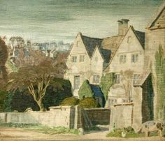 Gere, Charles, (1869-1957), Holcombe House, Painswick, 1926, Oil