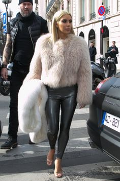 Out in Paris. See the best of Kim Kardashian's 2015 outfits.