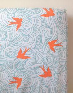 ocean bird crib sheet