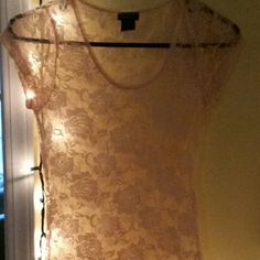 Rue 21 Lace Shirt NWOT, perfect condition. Pale Pink in color Rue 21 Tops Tees - Short Sleeve