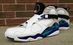"""Air Jordan 8 """"Aqua Home"""" Custom"""