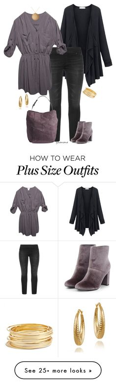 """Smokey- plus size"" by gchamama on Polyvore featuring Wet Seal, Kenneth Jay Lane, Argento Vivo and Mondevio"