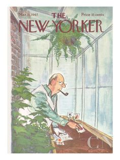 The New Yorker Cover - March 11, 1967 Poster Print by Charles Saxon at the Condé Nast Collection