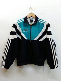 ADIDAS Training Jacket Women Small Vintage 90's Axidas Equipment Trainer Tracksuit Activewear Windbreaker Jacket Size S Streetwear