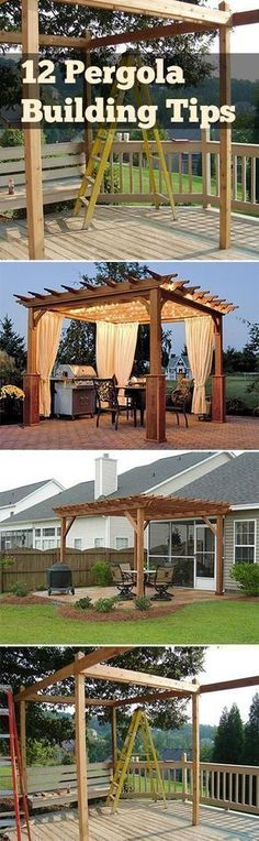 Gardening, home garden, garden hacks, garden tips and tricks, growing plants, gardening DIYs, gardening crafts, popular pin, backyard hacks, DIY pergola, pergola tutorial #deckbuildinghacks #largebackyardgarden