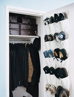 """Interior designer Ryan Korban has a painless, five-minute plan for controlling chaos in your home. """"Boxes! Boxes! Boxes!""""...Think of them as makeshift cabinets that fit perfectly into closets and shelves (Korban prefers ebony Azzedine Alaïa boxes). Boot boxes are genius for stashing two rows of CDs; smaller sizes can hold bills, photos, receiptsand anything else that needs a home."""