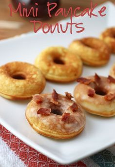 A super simple #keto #lowcarb mini pancake donut recipe in celebration of National #Donut Day!