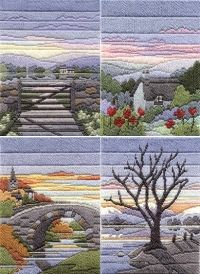 Seasonal Evenings Long Stitch Kit Collection - set of 4