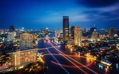 Looking for what to do in Bangkok? Read our Top 10 list about Bangkok's best attractions and make sure you dont miss any of the most fun things to do! Thailand Wallpaper, 1366x768 Wallpaper, 1366x768 Hd, City Sky, City Wallpaper, Night City, Living At Home, For Facebook, Bangkok Thailand