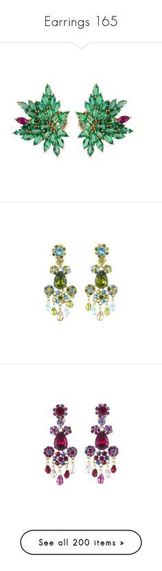 """Earrings 165"" by singlemom ❤ liked on Polyvore featuring jewelry, earrings, accessories, sparkly earrings, emerald jewelry, 14k earrings, evening jewelry, emerald chandelier earrings, aqua and long chandelier earrings"
