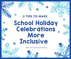 The Inclusive Class : 5 Tips to Make Your School Holiday Celebrations More Inclusive Make School, School Days, Sources Of Stress, Enrichment Programs, Positive Reinforcement, Classroom Inspiration, Student Teaching, School Holidays, Stress And Anxiety