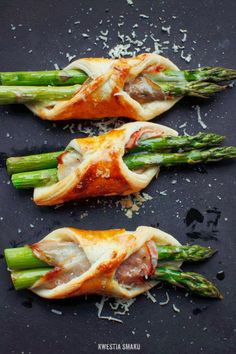 Puff Pastry–Wrapped Asparagus with Ham & Cheese | Kwestia Smaku