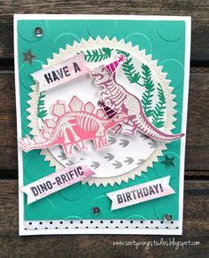 Sootywing Studios: Dino-rrific birthday!, No Bones About It, Stampin' Up!, Happy Birthday