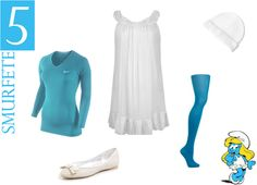 easy DIY costumes - Smurfette I now want to be Smurfette for Halloween.