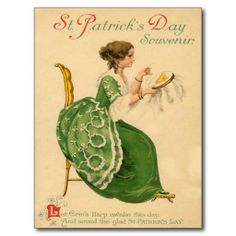 Here are some images just in time for Saint Patrick's Day. A Lovely Victorian Gown and some pretty ladies & gents dressed in St. Patty's Day wear from Vintage Cards. St Patrick's Day, Vintage Pictures, Vintage Images, Fete Saint Patrick, St Patricks Day Cards, Saint Patricks, Printable Images, Erin Go Bragh, Irish Blessing
