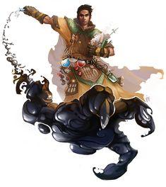 Dungeons & Dragons: Wizards, Warlocks, Druids & Sorcerers I (inspirational) - art post - Imgur Character Creation, Fantasy Character Design, Character Concept, Character Art, Concept Art, Character Ideas, High Fantasy, Fantasy Rpg, Medieval Fantasy
