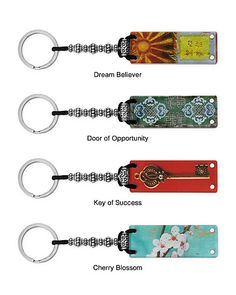 Fortune Keeper Keychains frame your fortune cookie fortunes with two acrylic sheets held in place by magnets.  Fortune is displayed on the other side.  Fortunes can easily be changed out when ever you feel like it.  Love these!