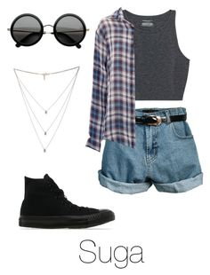 """""""Amusement Park with Suga"""" by btsoutfits ❤ liked on Polyvore featuring Retrò…"""