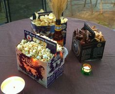 Serve snacks in beer boxes for a beer tasting party! This would also be cute for any summer outdoor party or even game day.