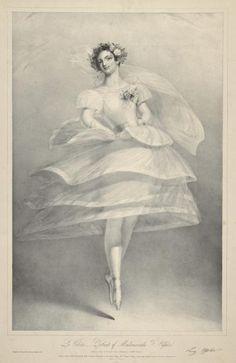 La Volière. - Portrait of Mademoiselle Fanny Elssler