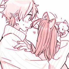Anime Chibi, Kawaii Anime, Anime Art, Cute Anime Pics, Cute Anime Boy, Anime Girl Pink, Tamako Love Story, Cute Anime Coupes, Anime Love Couple