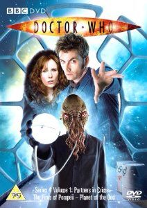 4.1, Partners in Crime, The Fires of Pompeii and Planet of the Ood. Starring David Tennant as the Doctor and Catherine Tate as Donna with Bernard Cribbins as Wilfred and Jacqueline King as Sylvia. Also starring Sarah Lancashire as Miss Foster, Peter Capaldi as Caecilius, Tracey Childs as Metella and Billie Piper as Rose